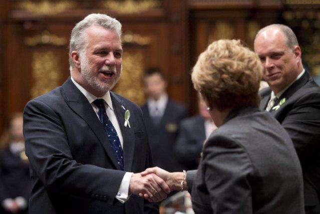 Pauline Marois refuse de s'engager à déposer un budget avant de possiblement... (Photo Jacques Boissinot, PC)