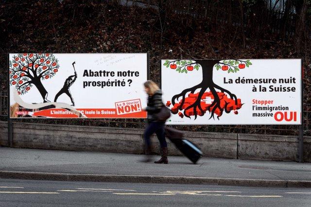 Le référendum tenu en Suisse concernant l'instauration de... (Photo FABRICE COFFRINI, Agence France-Presse)