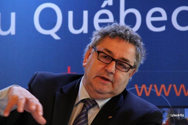 Le président de l'UMQ, Éric Forest.... (Photo: La Voix de L'Est)