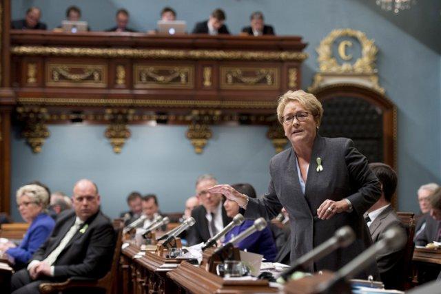 Hier à l'Assemblée nationale, la chef péquiste Pauline... (Photo: PC)