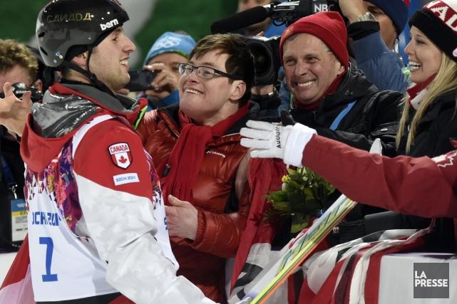 Médaillé d'or en bosses, Alexandre Bilodeau trouve son... (Photo Bernard Brault, La Presse)