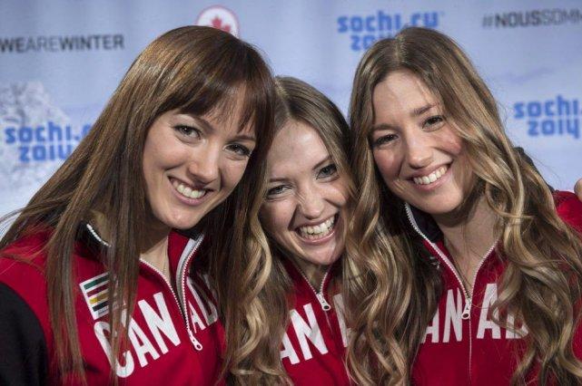 Maxime, Justine et Chloé Dufour-Lapointe... (PHOTO PAUL CHIASSON, LA PRESSE CANADIENNE)