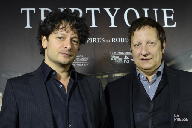 Pedro Pires et Robert Lepage à la premier... (Photo: Bernard Brault, archives La Presse)
