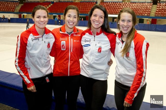 Jessica Hewitt, Valérie Maltais, Marie-Ève Drolet et Marianne... (Photo archives La Presse)