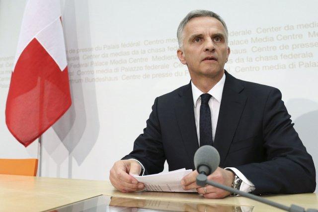 Le président suisse, Didier Burkhalter... (Photo Thomas Hodel, Reuters)