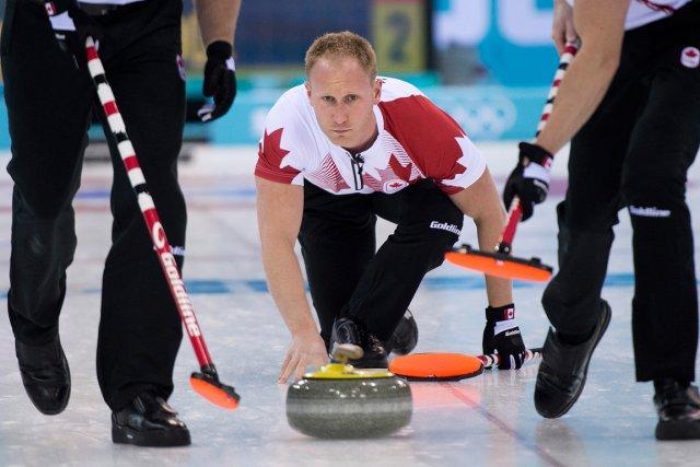Le skip de l'équipe canadienne de curling, Brad... (Photo Nathan Denette, PC)