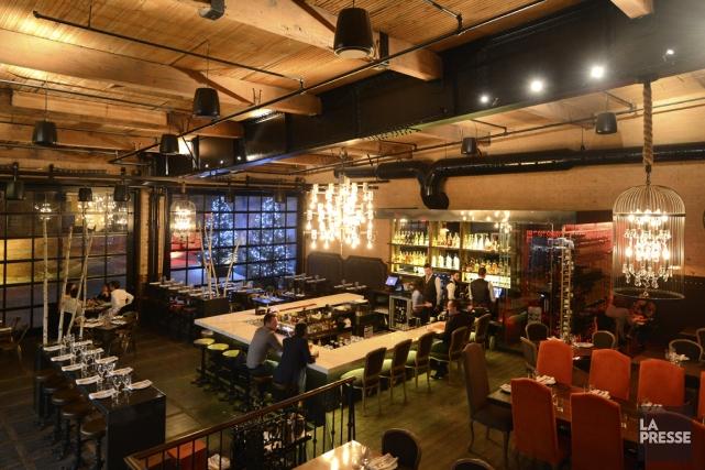 L'espace du restaurant Richmond est spectaculaire. On est... (Photo Bernard Brault, La Presse)