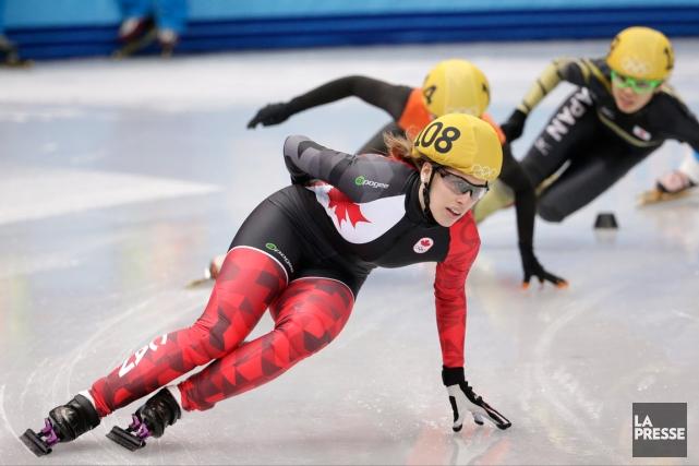 Marianne St-Gelais sera l'une des trois Canadiennes qui... (Photo Bernat Armangue, AP)