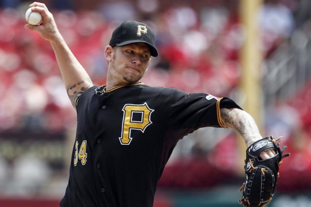 A.J. Burnett dans l'uniforme des Pirates de Pittsburgh.... (Photo archives Reuters)
