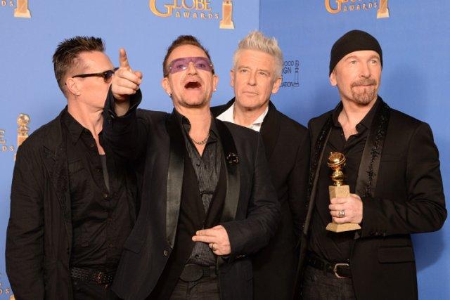 U2 a remporté un Golden Globe le mois... (Photo: AFP)