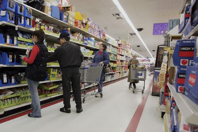 L'indice des ventes des détaillants et restaurants est... (Photo Joe Raedle, archives AFP)