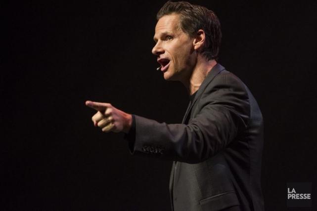 Première montréalaise de Furieusement calme, nouveau one-man-show de... (Photo: Olivier Pontbriand, La Presse)