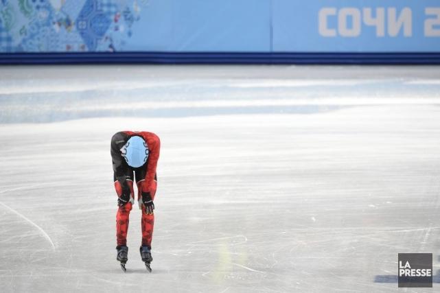 François Hamelin a perdu l'équilibre en trébuchant sur... (Photo Bernard Brault, La Presse)