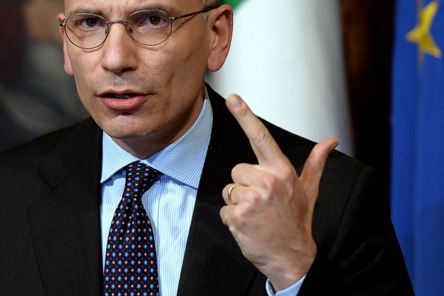 Enrico Letta... (Photo FILIPPO MONTEFORTE, AFP)