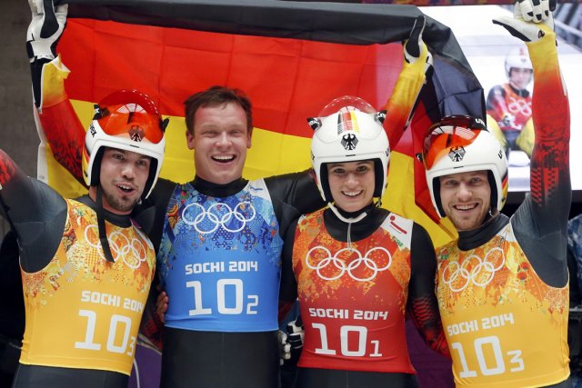 L'Allemagne a poursuivi sa domination des épreuves de... (Photo Fabrizio Bensch, Reuters)