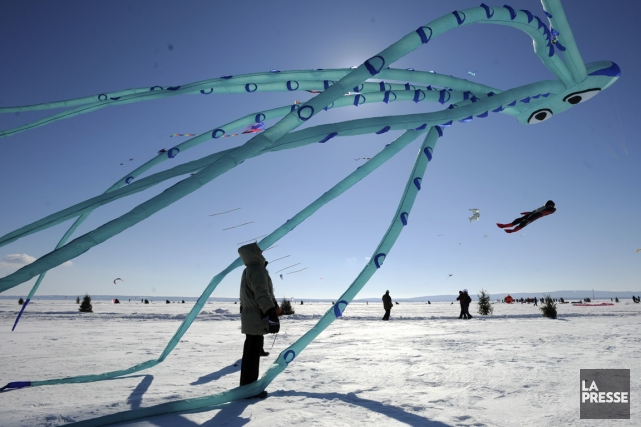 Le Festi-Vent sur glace de Saint-Placide... (Photo Bernard Brault, La Presse)