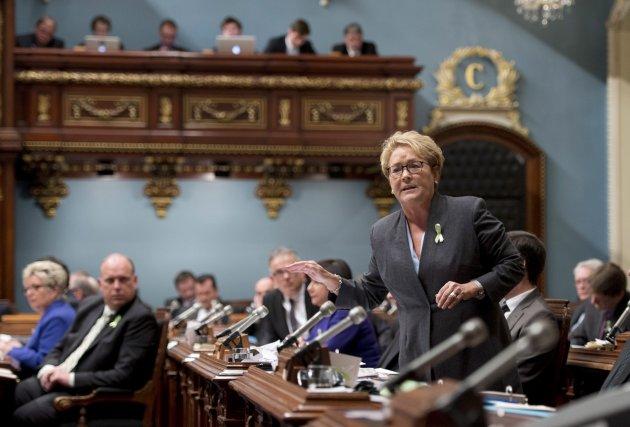Pauline Marois, première ministre du Québec.... (Photo Jacques Boissinot, La Presse Canadienne)