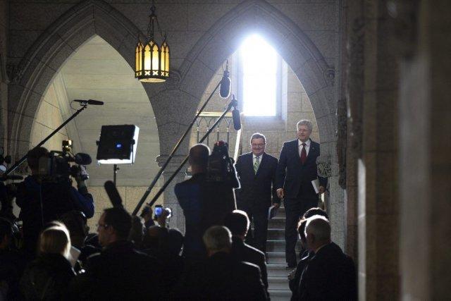 Le premier ministre Harper lui-même a pris soin... (Photo Sean Kilpatrick, PC)