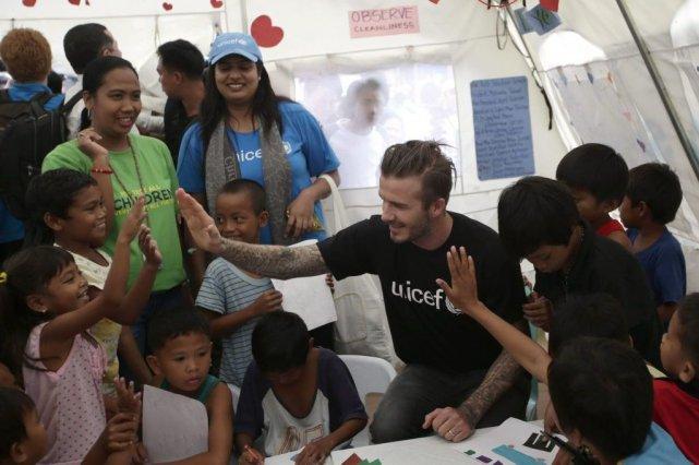 Il s'agit du deuxième voyage de Beckham aux... (Photo Bullit Marquez, AP)