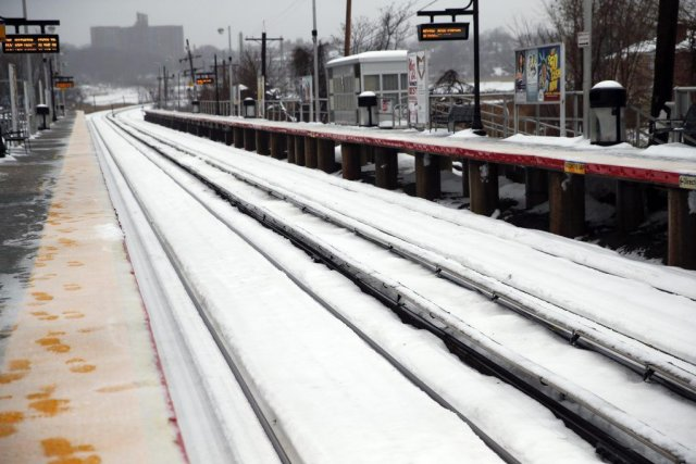 À New York, un avis de tempête de... (PHOTO SHANNON STAPLETON,REUTERS)