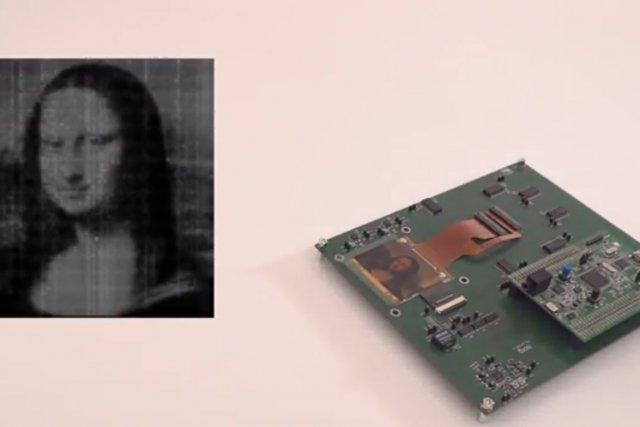 Avec l'invention d'Isorg, une image de Mona Lisa... (IMAGE TIRÉE DE YOUTUBE)