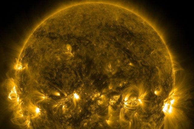 Le soleil.... (Photo AFP)