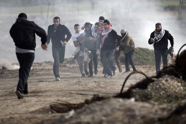 Les incidents sont fréquents dans la zone frontalière... (PHOTO MOHAMMED ABED, ARCHIVES AFP)