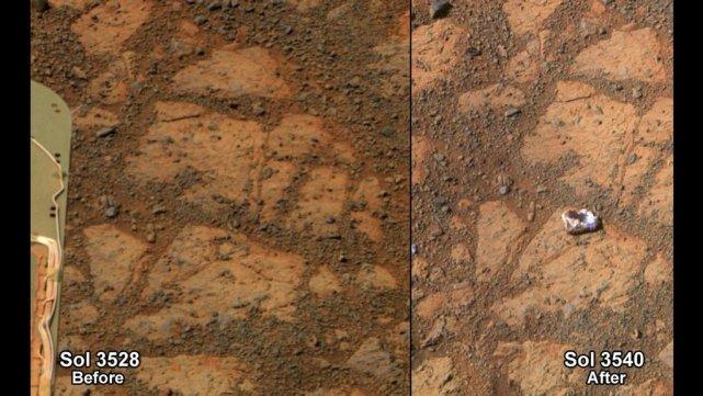 Le cliché avait été envoyé le 8 janvier,... (Photo AP/NASA)