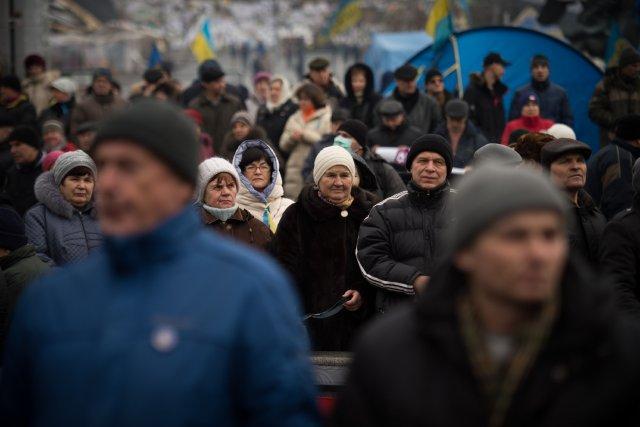 La place de l'Indépendance à Kiev a vu... (Photo Martin Bureau, AFP)
