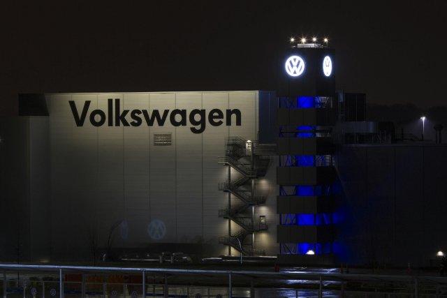 Les employés de l'usine Volkswagen de Chattanooga, auTennessee,ont... (Photo Christopher Aluka Berry, AFP)