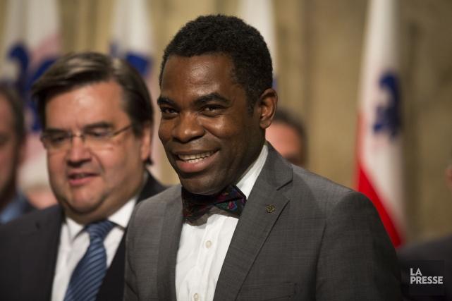 Le président du conseil municipal de Montréal, Frantz... (PHOTO OLIVIER PONTBRIAND, LA PRESSE)