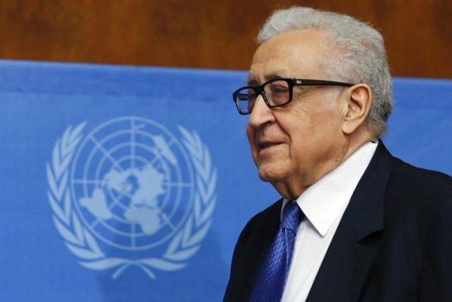 Le médiateur de l'ONU, Lakhdar Brahimi s'est dit... (PHOTO DENIS BALIBOUSE, REUTERS)