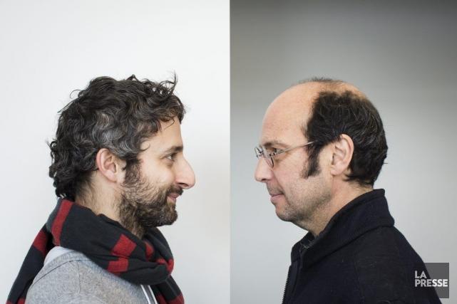 Les chanteursLouis-Jean Cormier et Michel Rivard.... (PHOTO EDOUARD PLANTE-FRECHETTE, LA PRESSE)