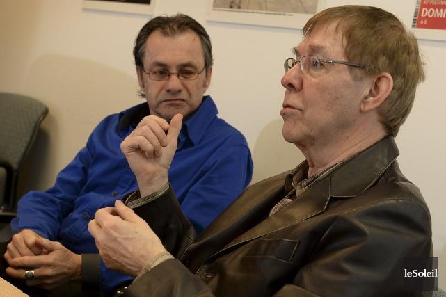 Le Dr Jean Lamarche et Michel Dufour, orthopédagogue... (Le Soleil, Patrice Laroche)