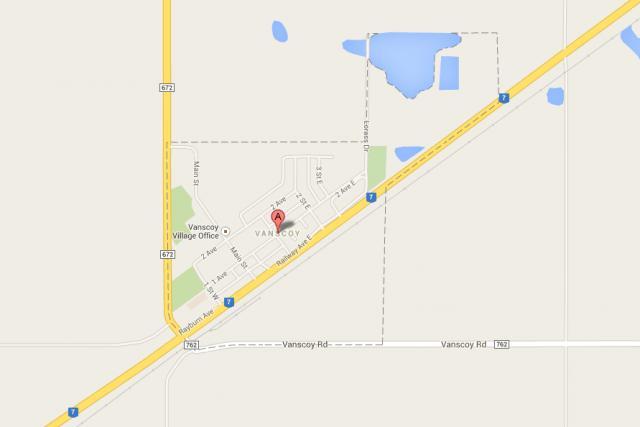 Vanscoy, en Saskatchewan.... (Image tirée de Google Maps)