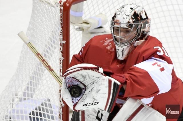 Le gardien du Canadien de Montréal a repoussé... (Photo Bernard Brault, La Presse)