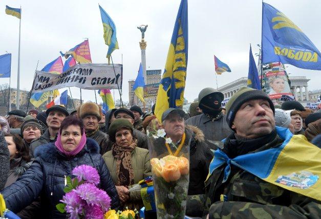L'annonce de l'évacuation de la mairie a été... (Photo SERGEI SUPINSKY, AFP)