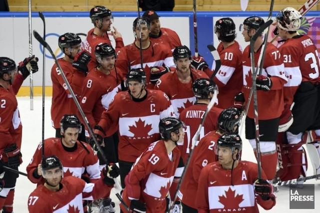 L'équipe masculine du Canada a défait la Finlande.... (Photo Bernard Brault, La Presse)