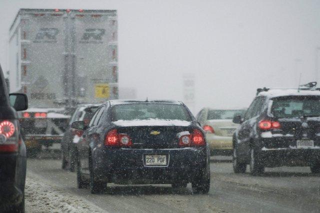 Les routes dans toutes ces régions sont enneigées... (Photo Jacques Boissinot, PC)