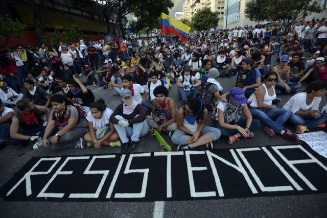Le Venezuela est depuis deux semaines le théâtre... (Photo: AFP)