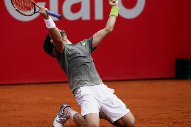 L'Espagnol David Ferrer a vaincu l'Italien Fabio Fognini... (PHOTO MARCOS BRINDICCI, REUTERS)