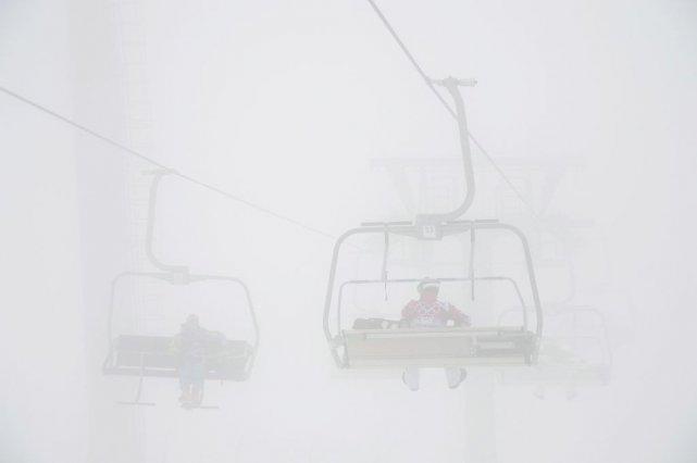 Le brouillard était si intense au-dessus du parc... (Photo Jonathan Hayward, PC)