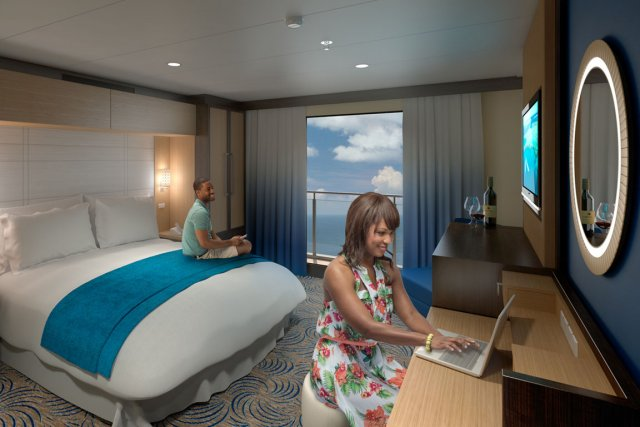 Un balcon virtuel dans le paquebot Navigator of... (Illustration fournie par Royal Caribbean)