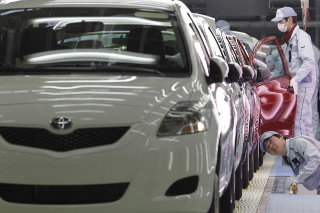 En février, les usines d'assemblage d'automobile du Japon... (Photo archives AP)