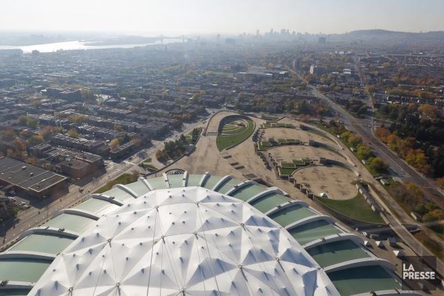 L'Esplanade du Parc olympique de Montréal.... (Photo Edouard Plante-Fréchette, Archives La Presse)