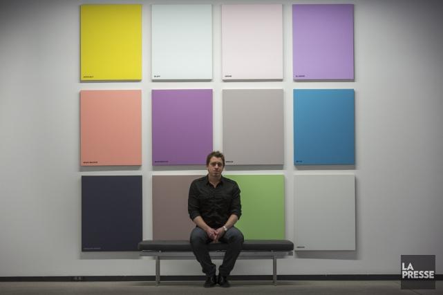 Martin Bourdeaua notamment créé cette série de 12... (Photo: Olivier Pontbriand, La Presse)