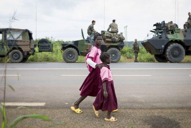 Au lancement de l'intervention française, début décembre, le... (PHOTO FRED DUFOUR, ARCHIVES AFP)