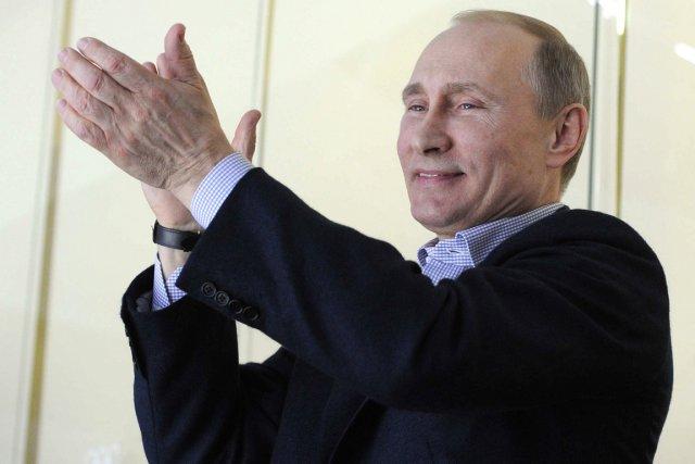Le président russe Vladimir Poutine a assisté au... (Photo Michail Klimentiev, AFP)