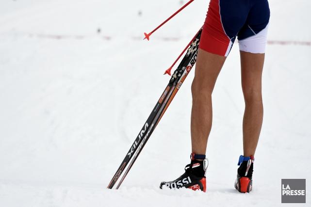 Certains fondeurs ont participé aux compétitions en culottes... (Photo Bernard Brault, La Presse)