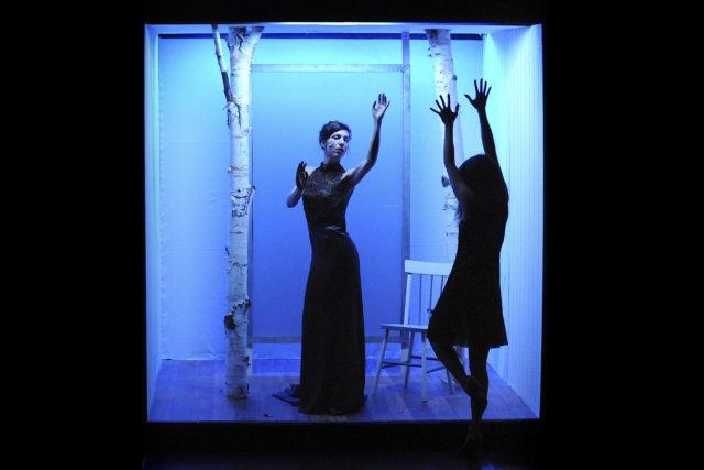 Évelyne de la Chenelière et Anne Thériault dans... (Photo: Caroline Laberge, fournie par Espace Go)